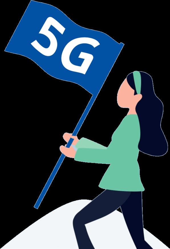 TDC - 5G vector grafik