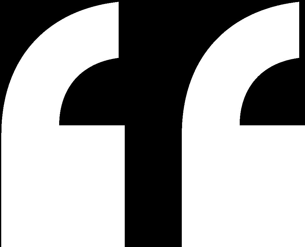 Citat tegn - Hvid